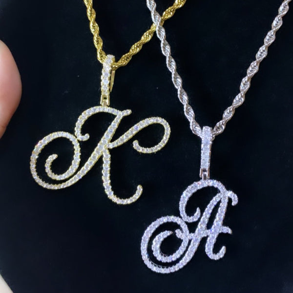 Icy letter necklace