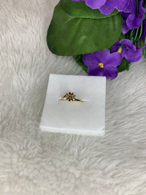 Gold plated sunflower toe ring