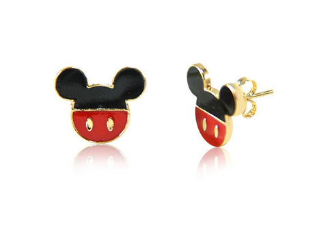 Gold plated Mickey Mouse earring