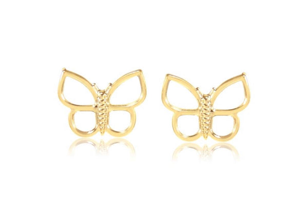 Gold plated butterfly earring