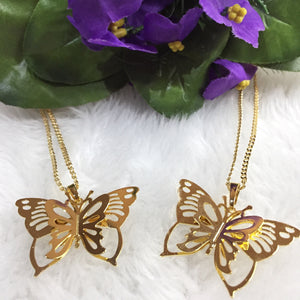 gold filled mariposa necklace