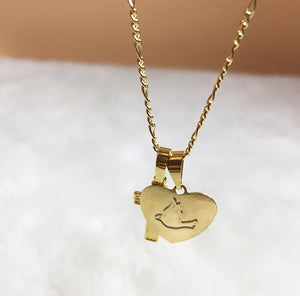 gold filled faith necklace