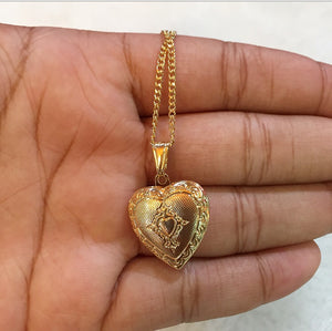 Gold filled heart locket ( Mother's Day )