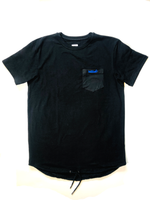 Black Drawstring Tee - Boost® | SHOP