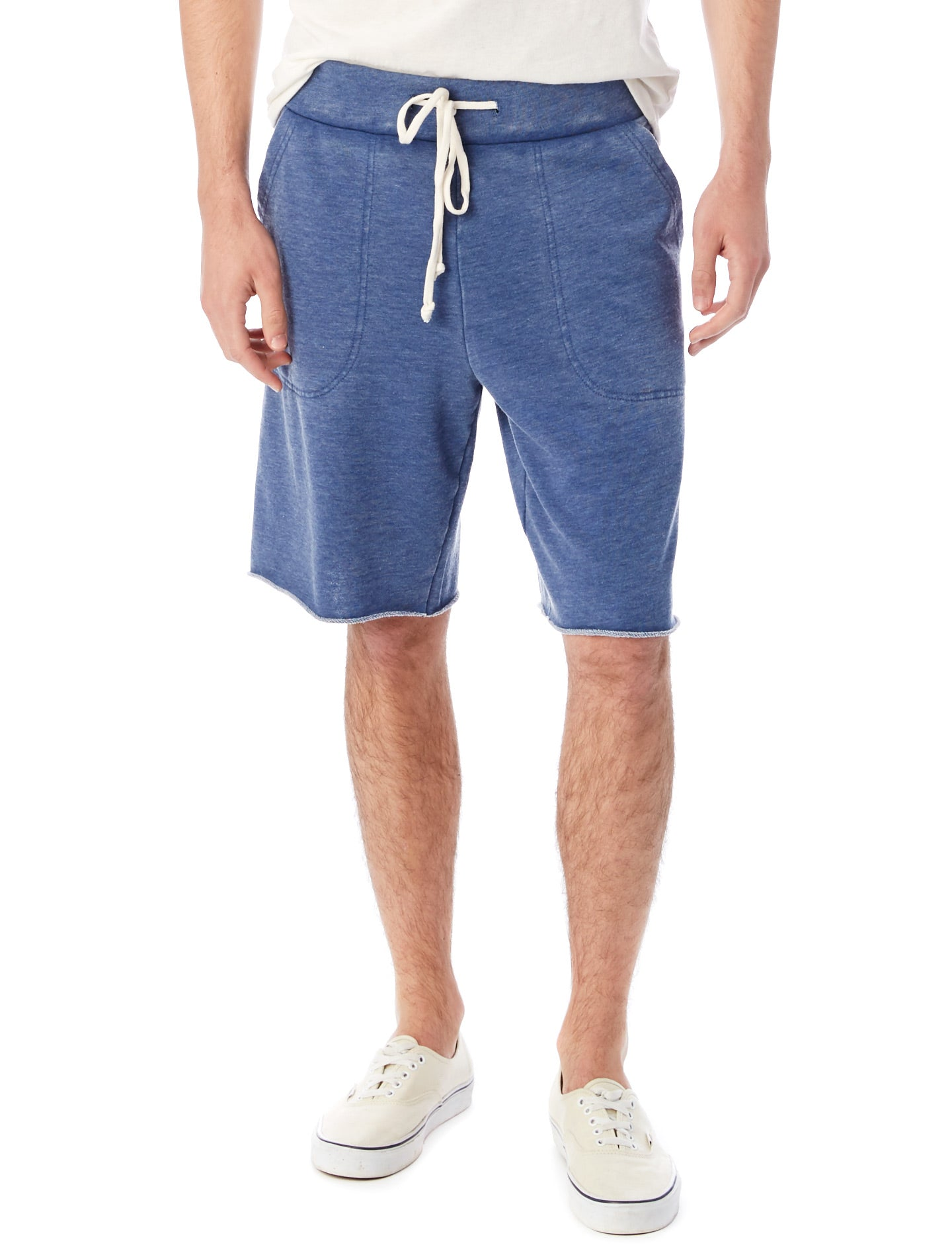 Mens Casual Navy French Terry Shorts