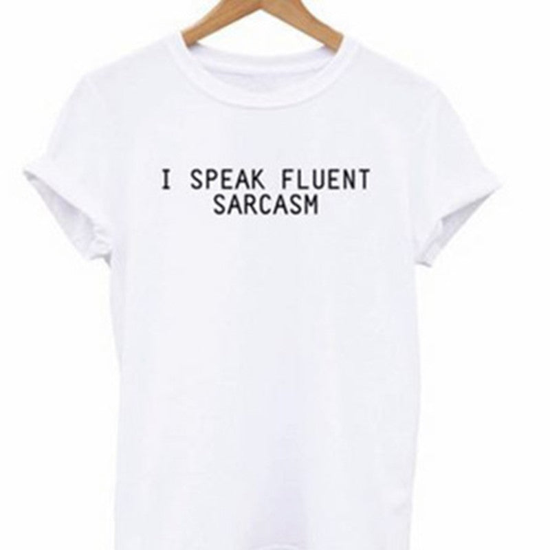 Fluent Sarcasm Crop Top