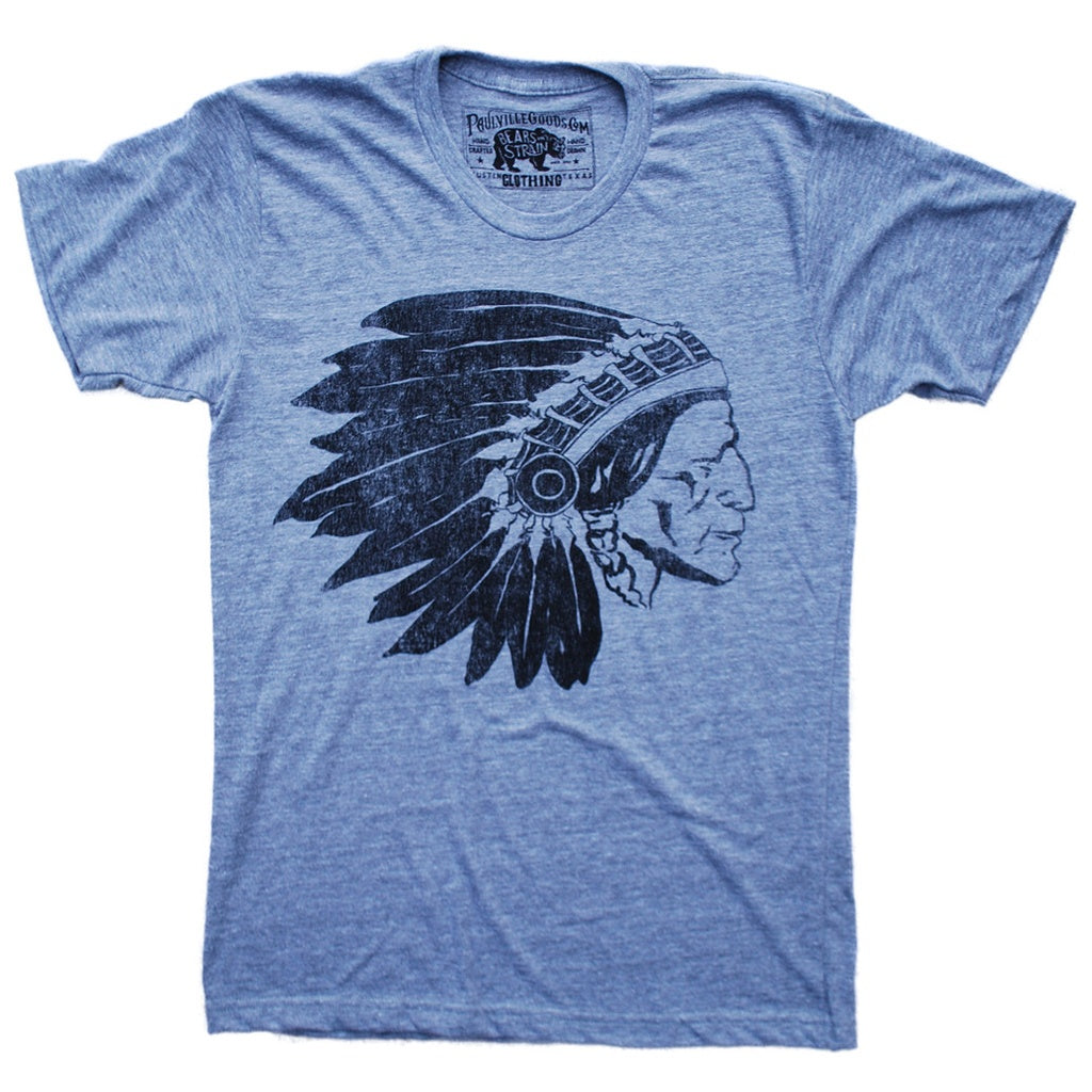 Chief Two Moons Grey T-Shirt