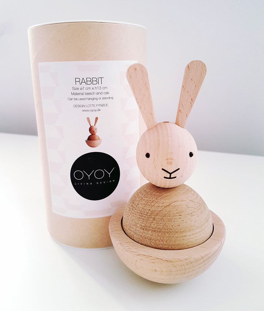 Wooden bunny packaging