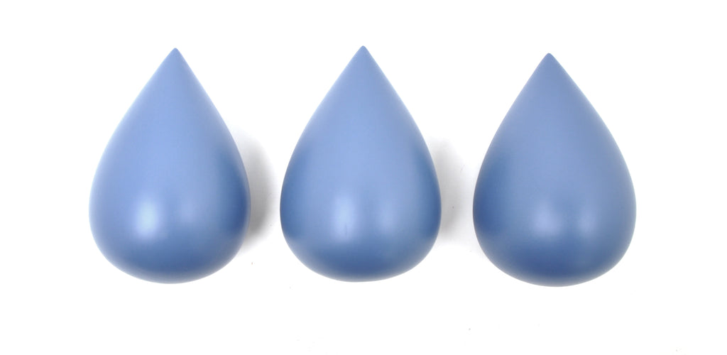 Rose in April - Raindrop Wall Hooks (set of 3) - Paradise Blue