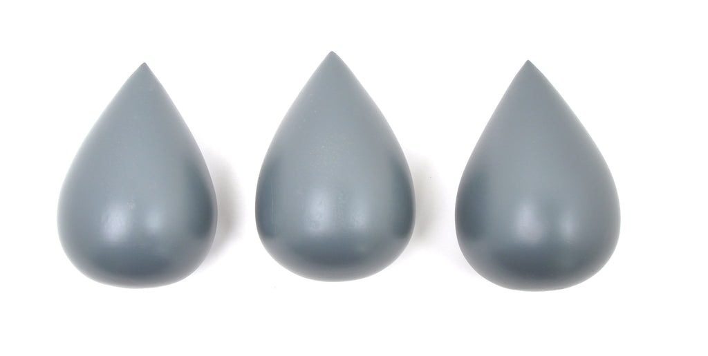 Rose in April - Raindrop Wall Hooks (set of 3) - Cement Grey - Playhaus Interiors