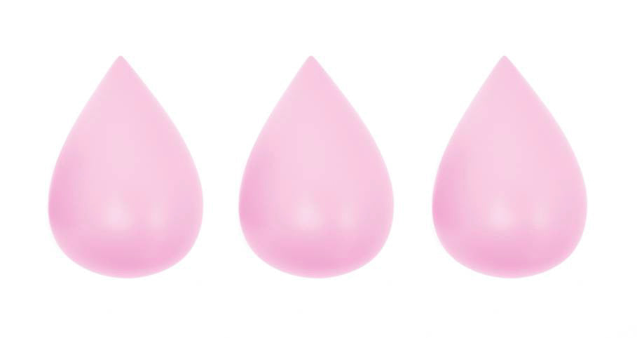 Rose in April - Raindrop Wall Hooks (set of 3) - Candy Pink