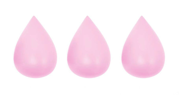 Rose in April - Raindrop Wall Hooks (set of 3) - Candy Pink - Playhaus Interiors