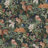 Jimmy Cricket - Woodlands Charcoal Wallpaper - Playhaus Interiors