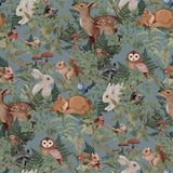 Jimmy Cricket - Woodlands Dusty Blue Wallpaper - Playhaus Interiors