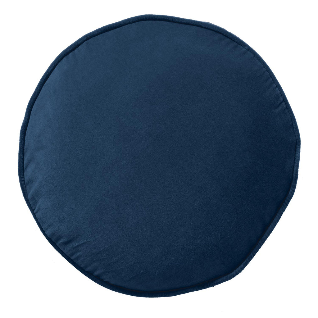 Kip & Co - Velvet Pea Cushion - Petrol Blue