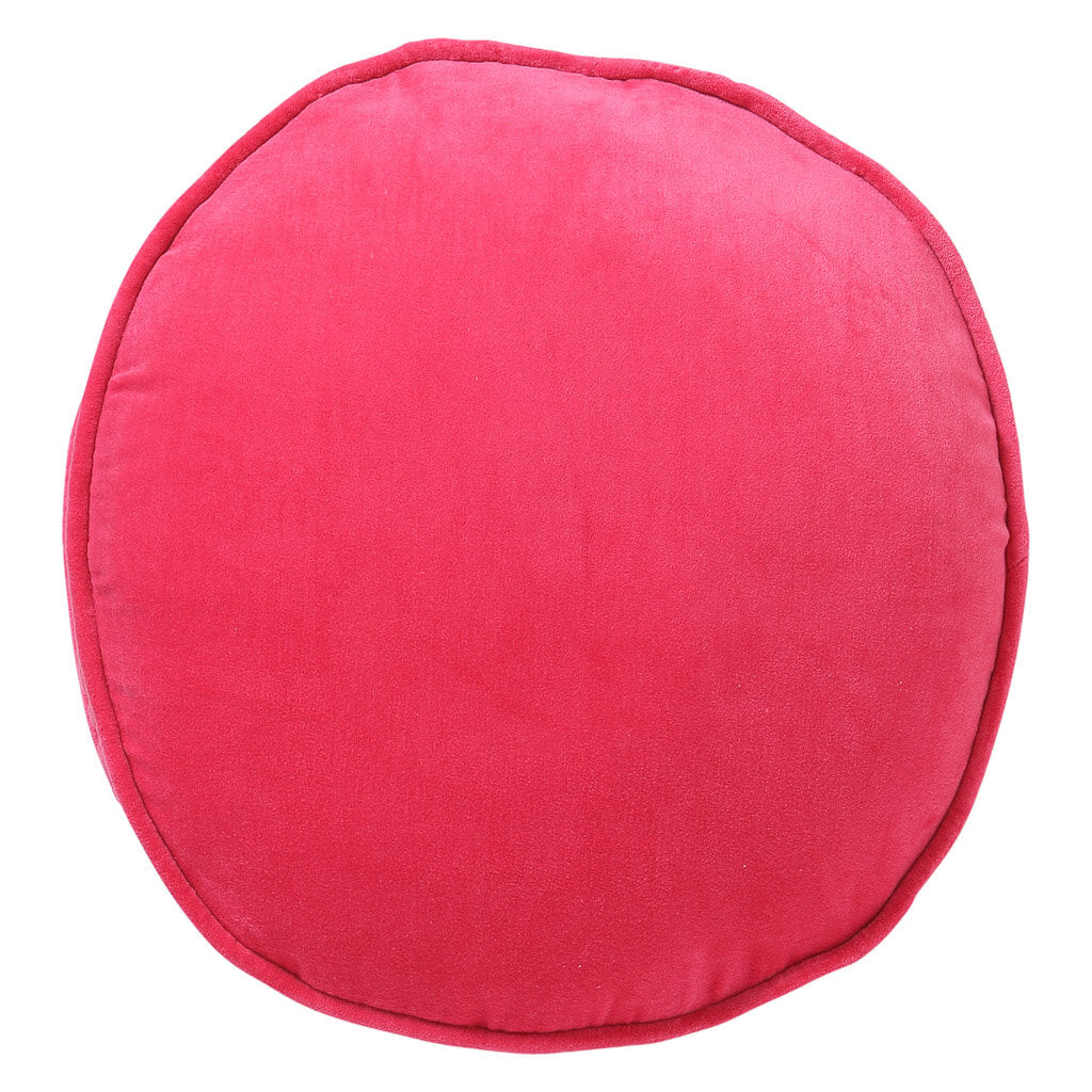 Kip & Co - Velvet Pea Cushion -  Neon Pink - Playhaus Interiors