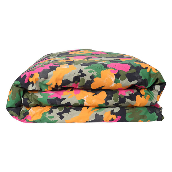 Kip & Co - Camo Pink - Cotton Single Duvet Cover - Playhaus Interiors