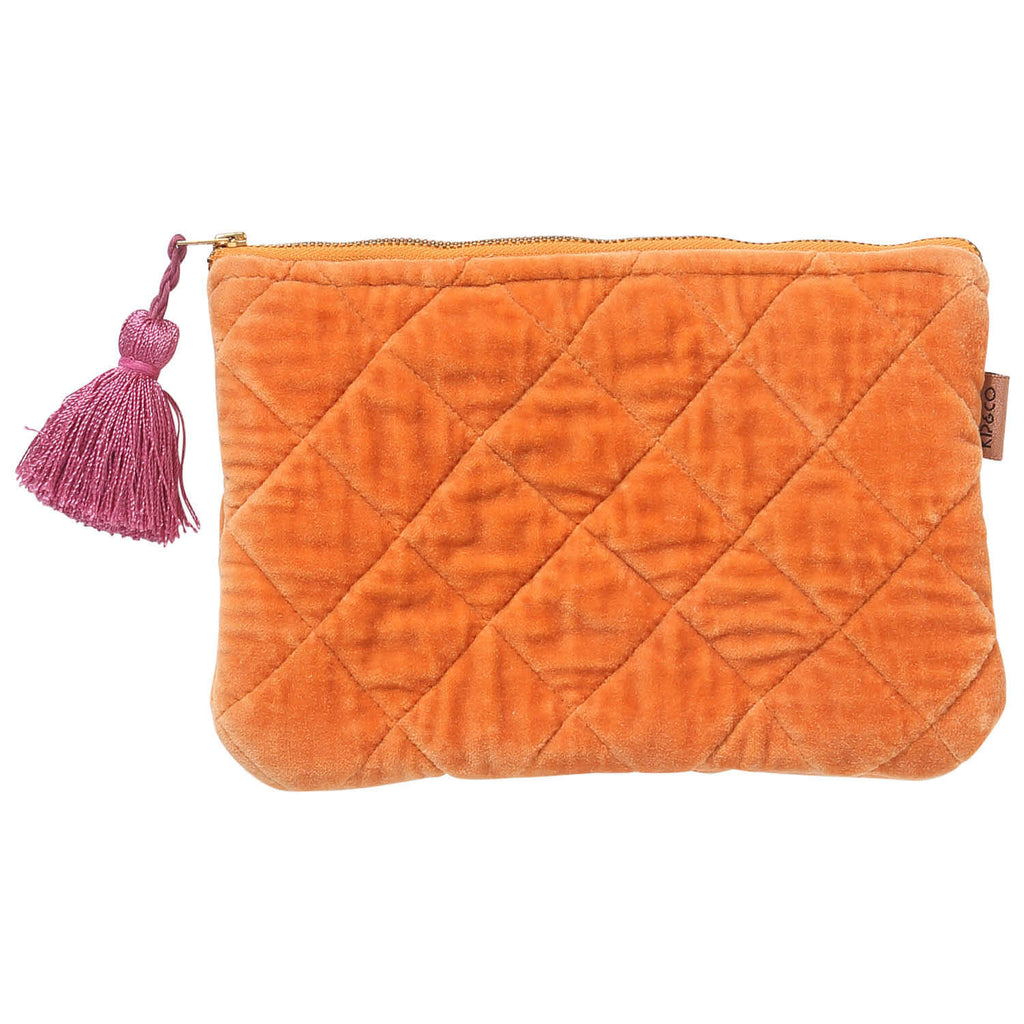 Kip & Co Marmalade Velvet Cosmetics Purse - Playhaus Interiors