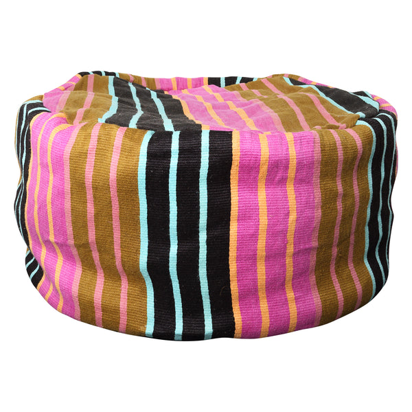 Kip & Co - Giant Stripe Jute Beanbag - Playhaus Interiors