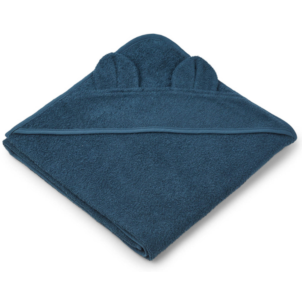 LIEWOOD - Augusta Hooded Towel - Mr Bear Petrol Blue - Playhaus Interiors