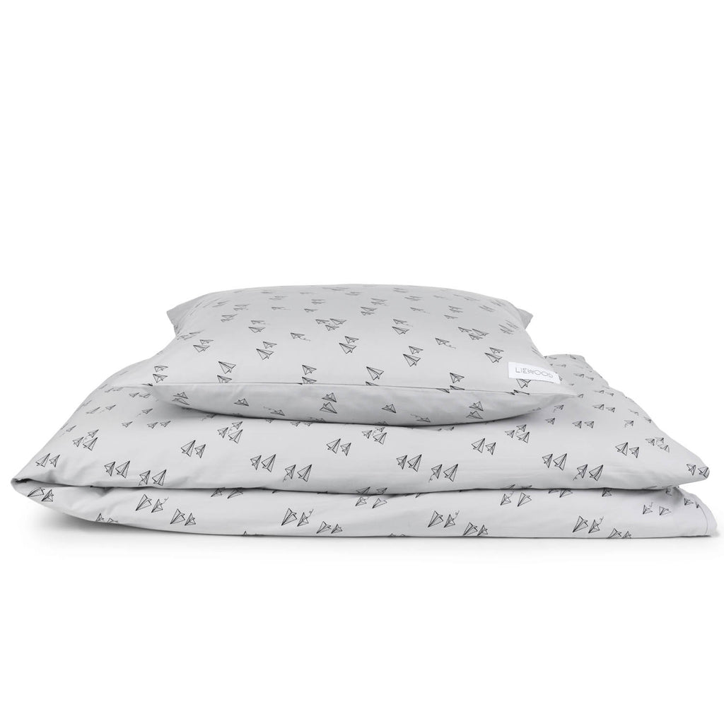 LIEWOOD - Bed Linen - Paperplane Dumbo Grey - Playhaus Interiors