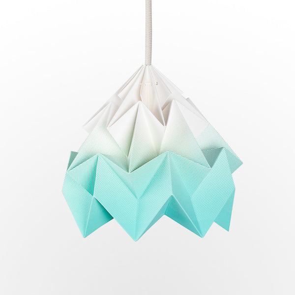 Snowpuppe Moth Lamp - Gradient Mint Green