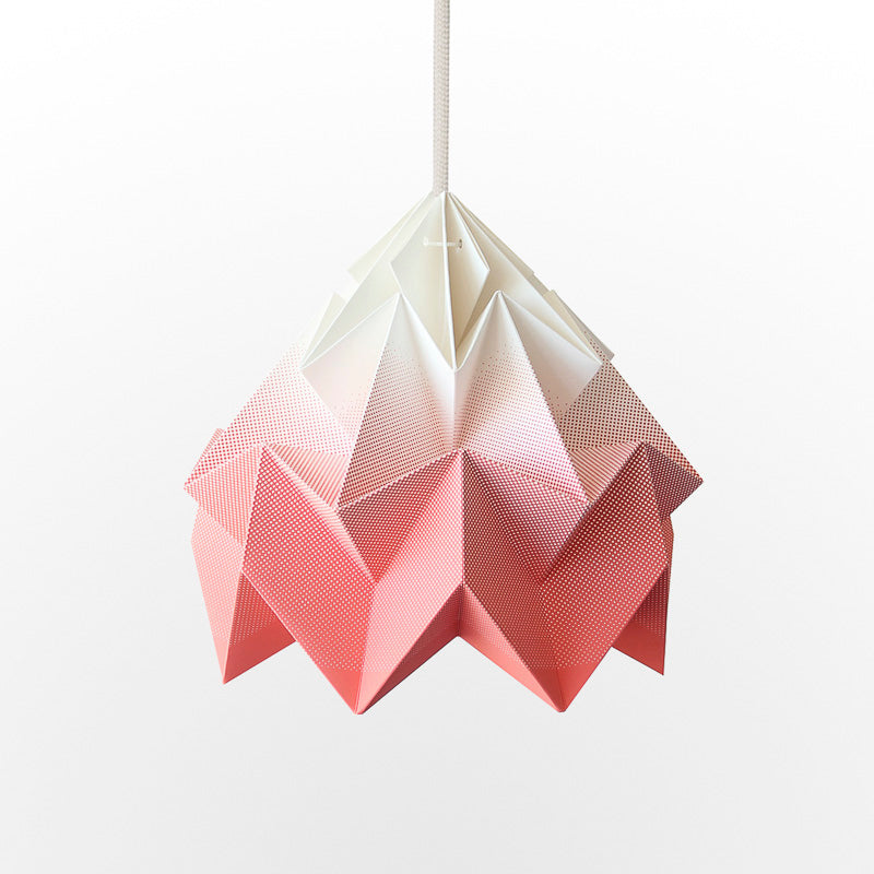 Snowpuppe Moth Lamp - Gradient Coral - Playhaus Interiors
