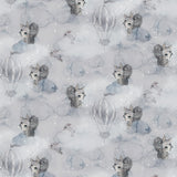 Mrs Mighetto Oh Clouds Friends Fitted Cot Sheet - Playhaus Interiors