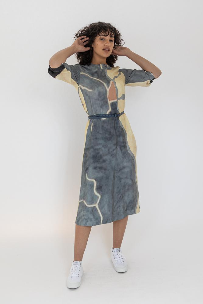 Kirra Silk Dress - Common Ground 5 - Low Inventory