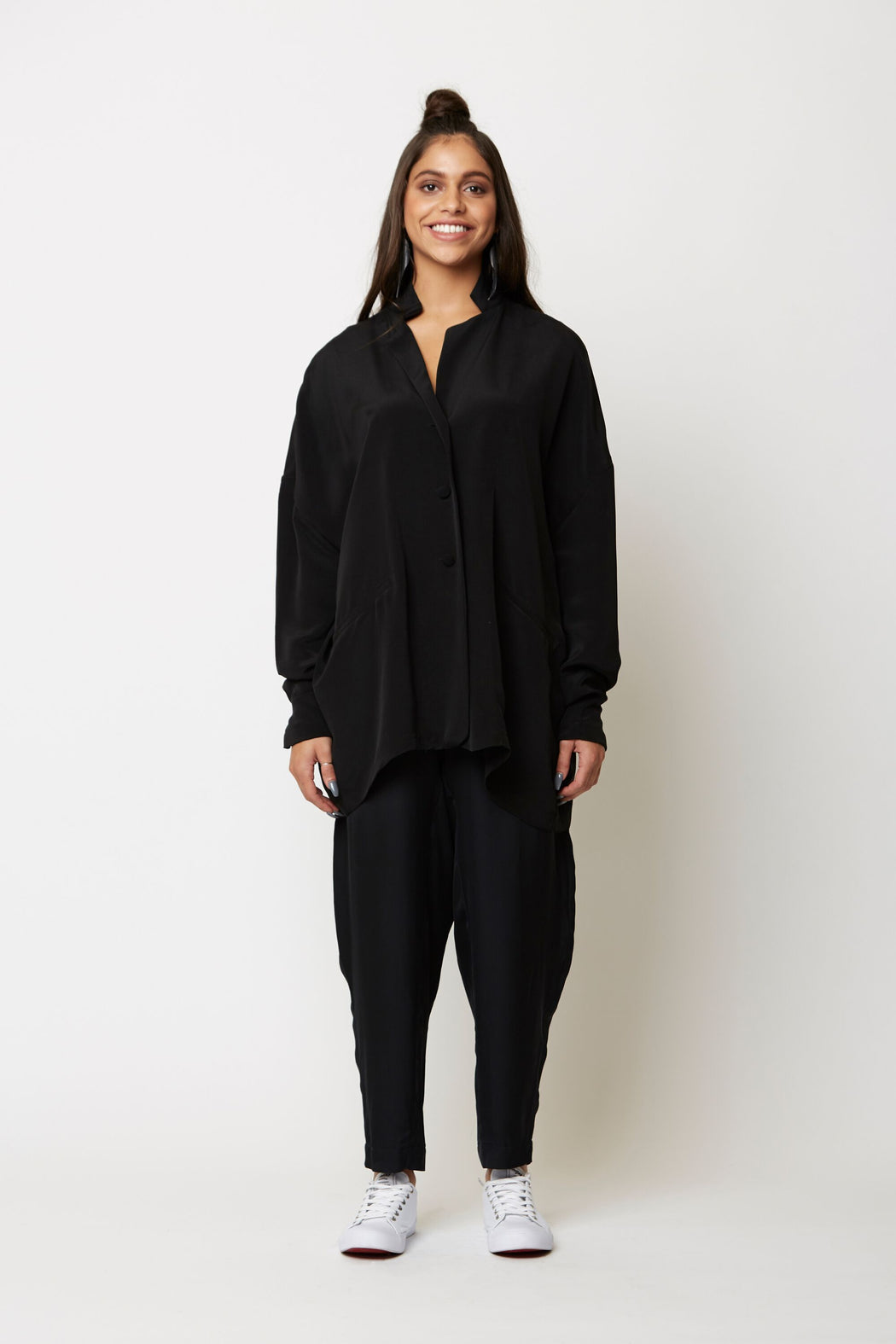 Black Viscose Jacket