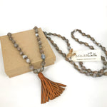 Job's Tears | Brown Tassel Set