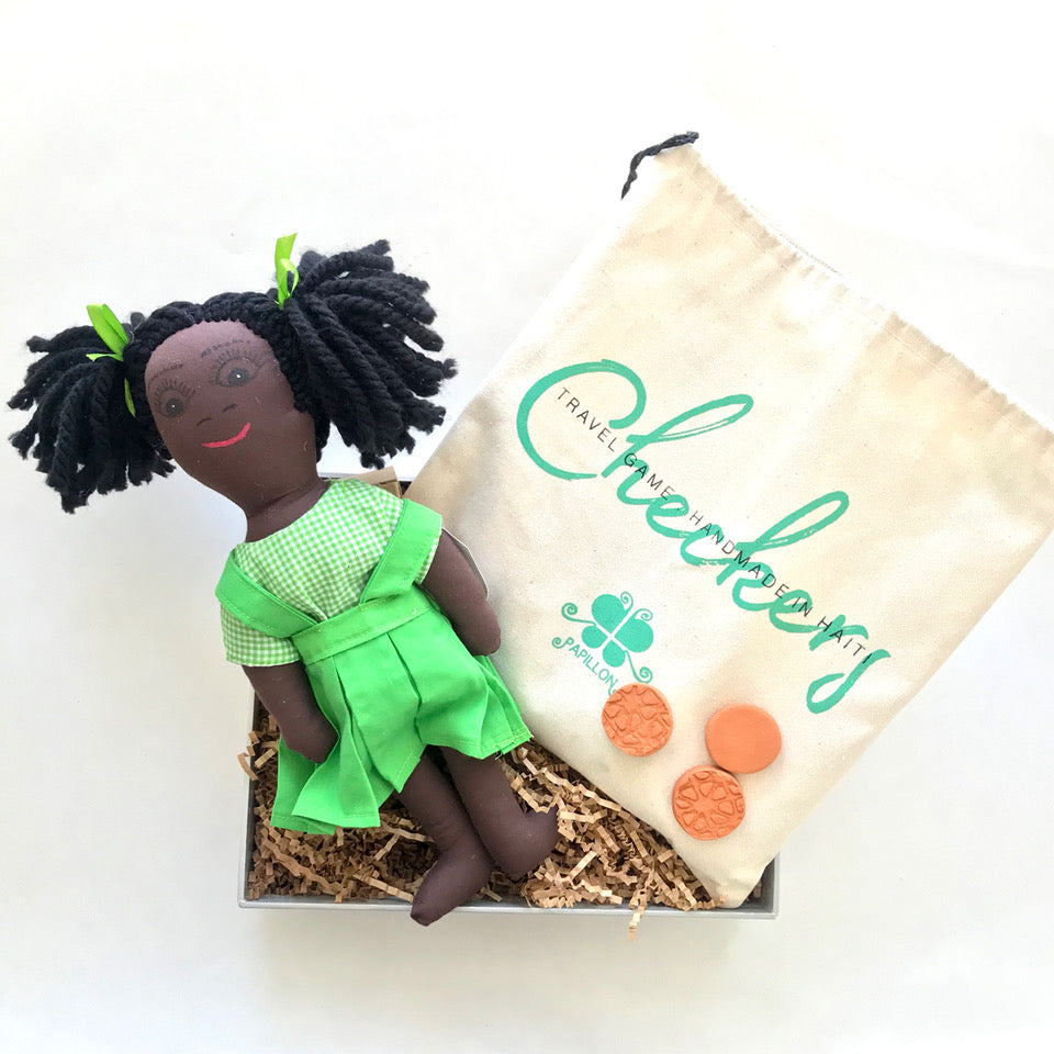 Doll + Checker Gift Set