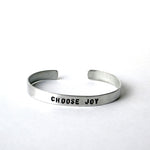 Aluminum Cuffs - Choose Joy