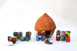 Coconut Nativity Set