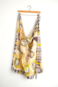 Watercolor Scarf - Gray Mix