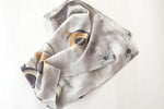 Watercolor Scarf - Soft Gray
