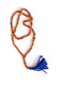 Terra Cotta Tassel Necklace