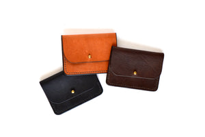 Leather Fold Over Card Holder