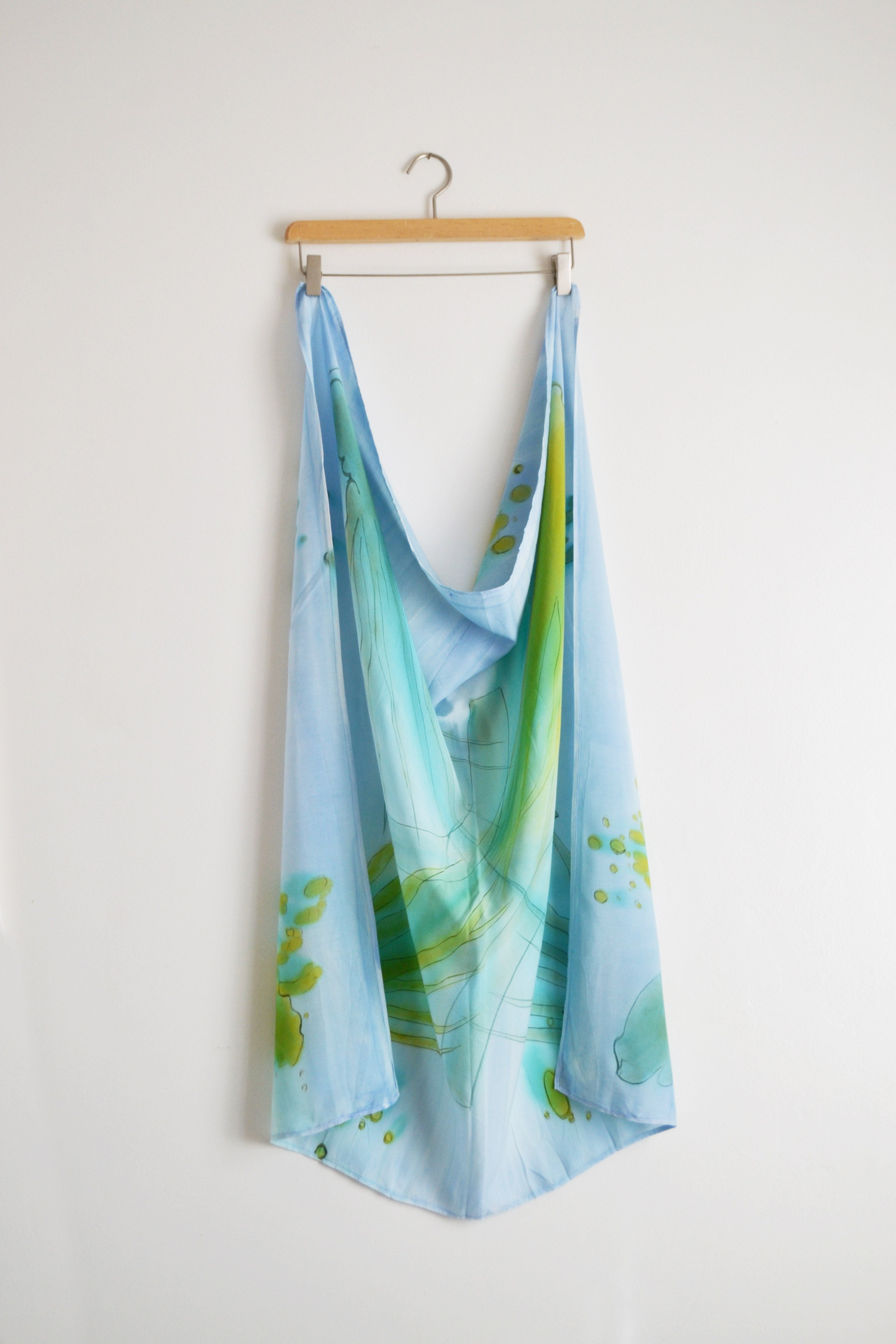 Watercolor Square Scarf - Underwater