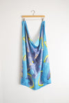 Watercolor Scarf - Blue Lilies