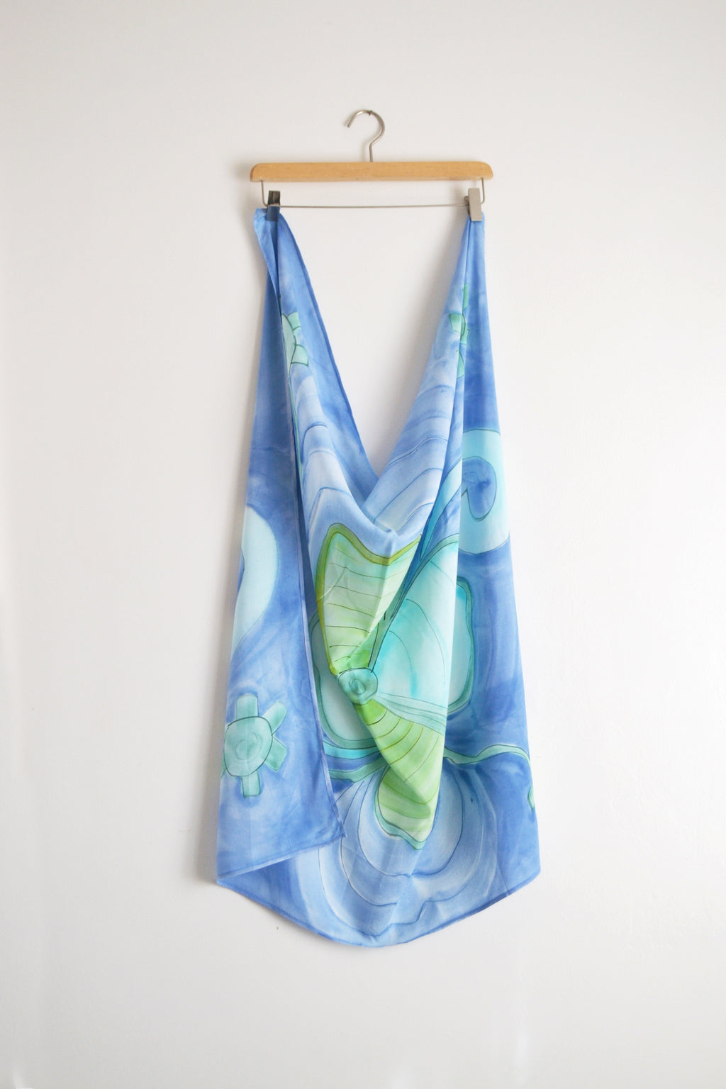 Watercolor Scarf - Blue