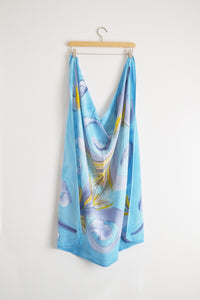 Watercolor Scarf - Sky Blue