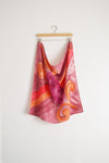 Watercolor Neck Scarf - Warm Fuchsia