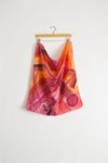 Watercolor Neck Scarf - Warm Plum