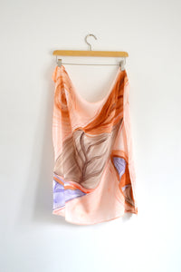 Watercolor Neck Scarf - Spring Leaf