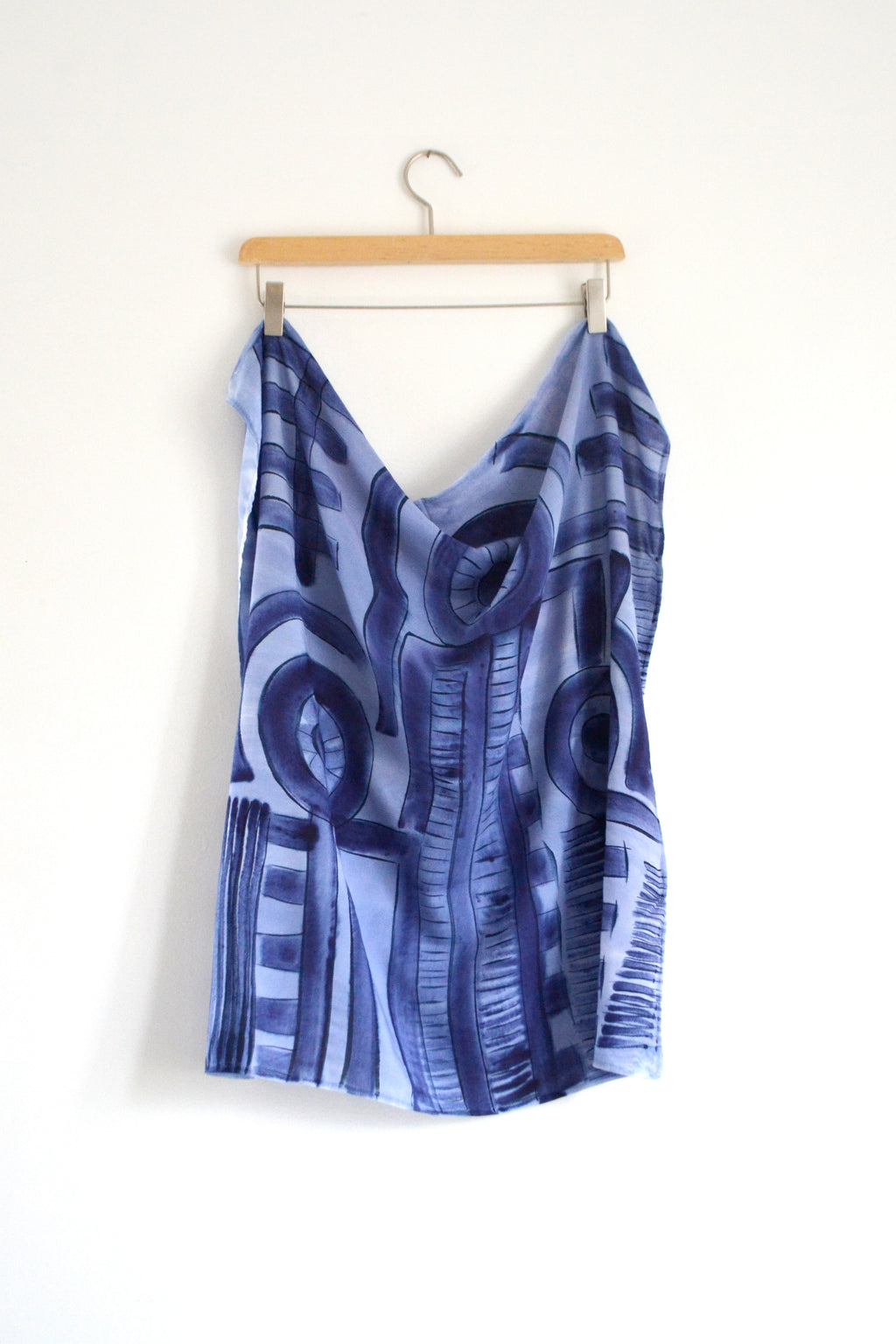 Watercolor Neck Scarf - Out of the Blue