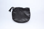 Leather Zip Pouch - Black