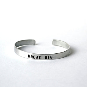 Aluminum Cuffs - Dream Big