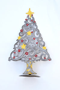 Standing Christmas Tree Metal Art