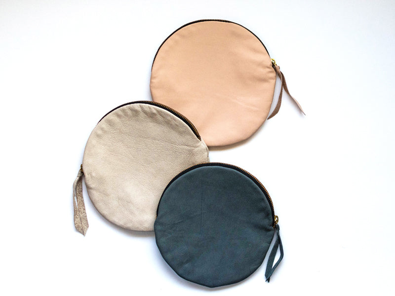 Full Moon Leather Pouch